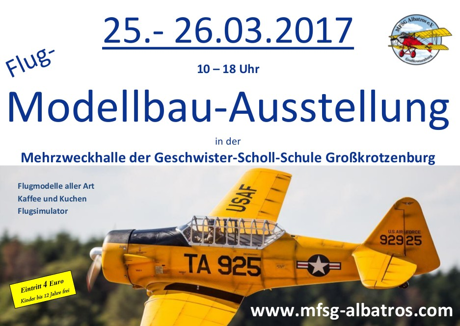 Flug-Modellbau-Ausstellung des MFSG-Albatros Großkrotzenburg